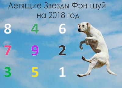 Летящие Звезды Фэн-шуй на 2018 год